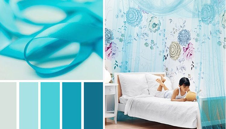 El color azul turquesa en la decoración